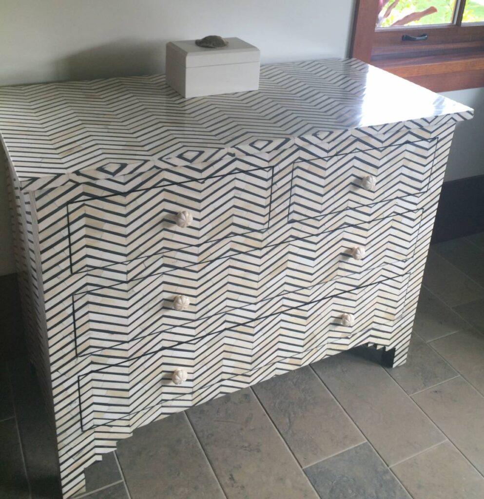 bone dresser in house