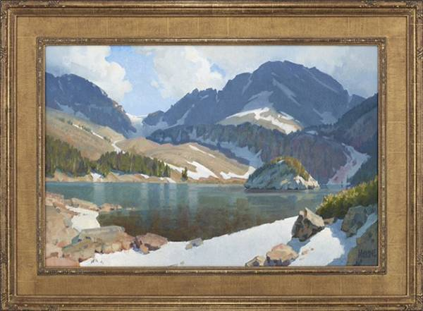 WAYNE WOLFE Lake Agnes Oil on Canvas 24x 36