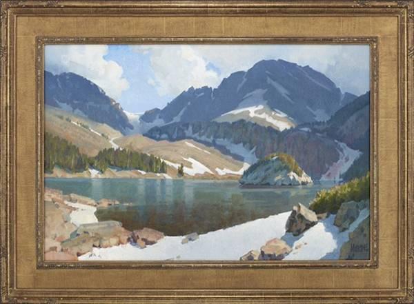 WAYNE WOLFE Lake Agnes Oil on Canvas 24x 36