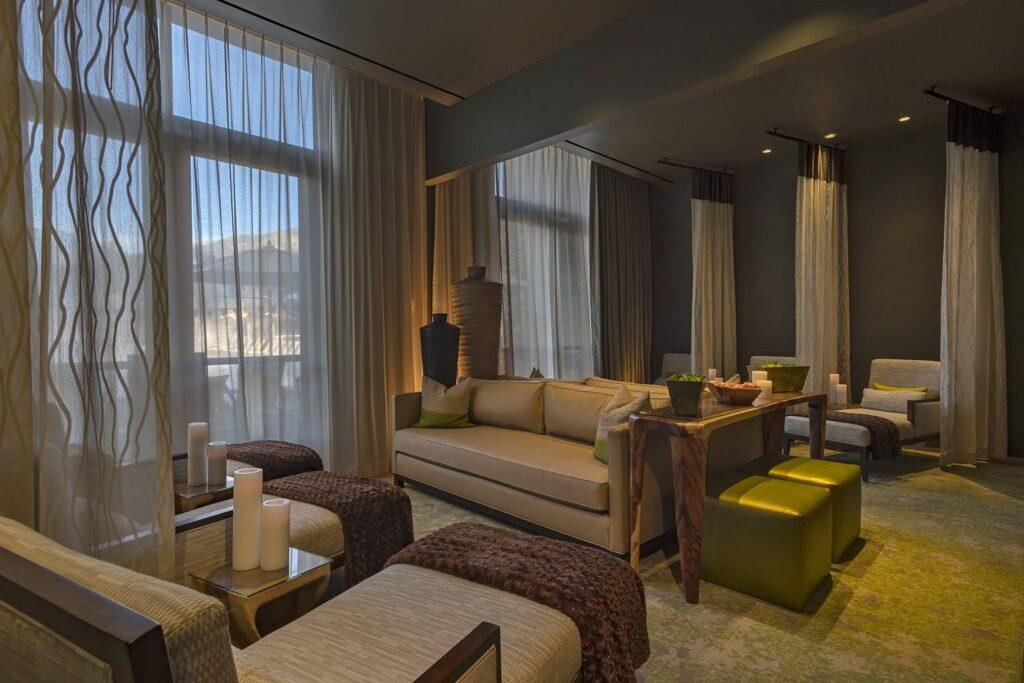 Spa Anjali lounge curtains