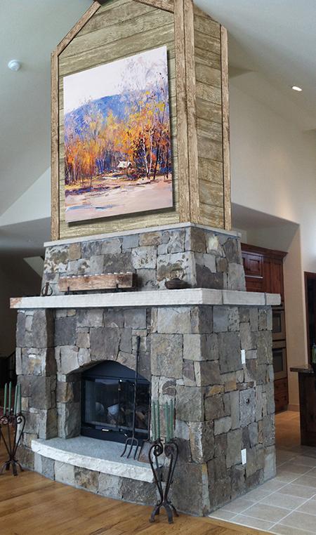 Reclaimed Wood Fireplace - Slifer Designs