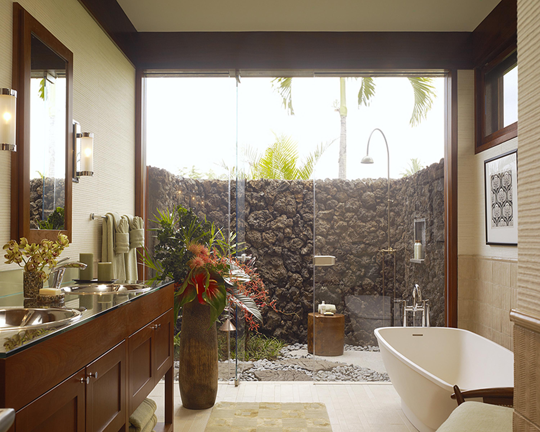 Красивые ванные комнаты.