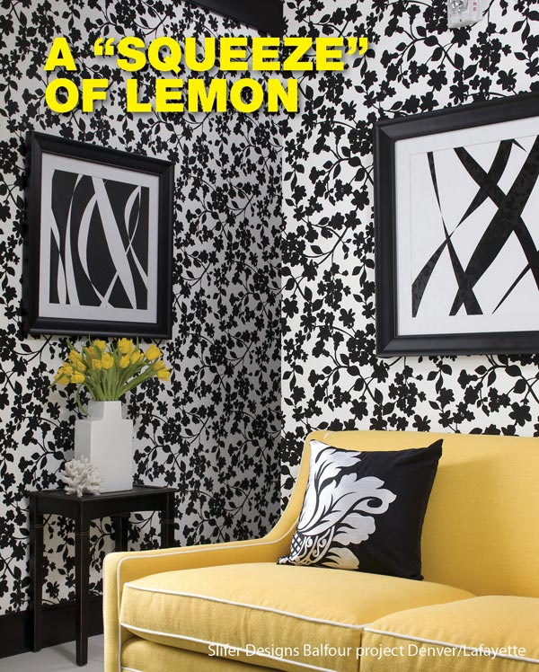 "brighten up your room with a ""squeeze"" of lemon!"